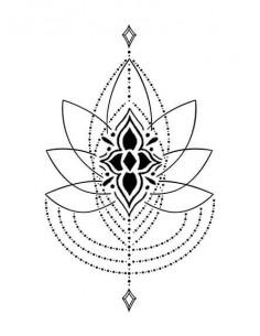 Lotos - nalepovacie tetovanie