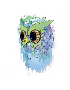 Farebná sova - watercolor...
