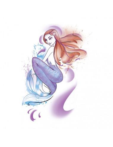 Morská panna - watercolor nalepovacie...