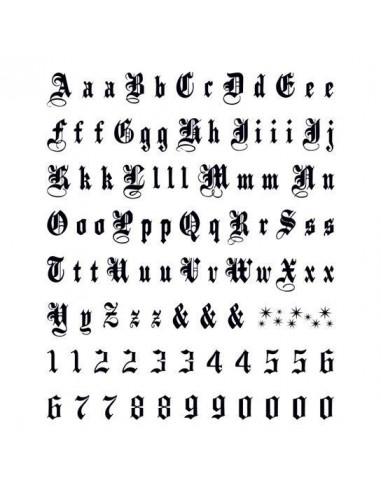 Písmená a čísla Old English - veľké...