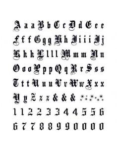 Písmená a čísla Old English...