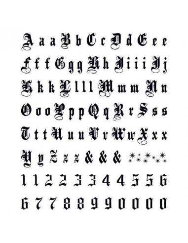 Písmená a čísla Old English -...