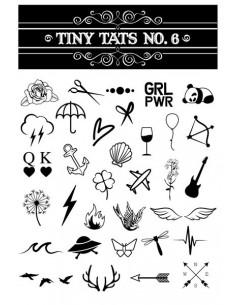 Čiernobiele tetovačky - sada 6