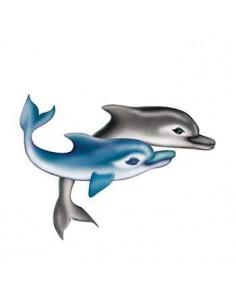 Dva delfíny - nalepovacie...