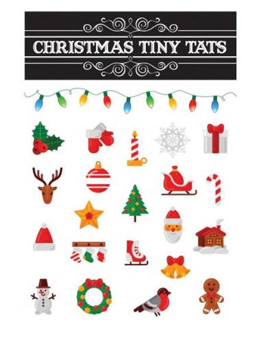Vianočné motívy - sada tetovačiek 1