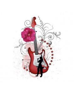 Gitara s kvetinami -...