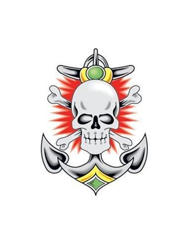 Lebka a kotva - nalepovacie tetovanie