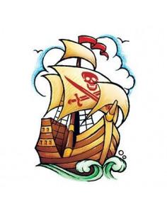 Pirátska loď - nalepovacie...