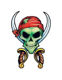 Pirátska lebka a meče -...