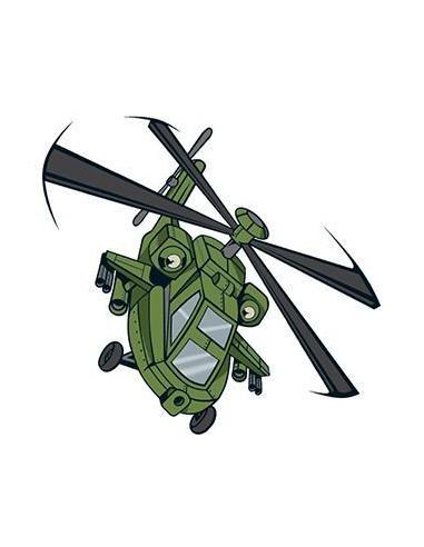 Vrtuľník - nalepovacie tetovanie