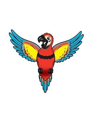 Papagáj - nalepovacie tetovanie