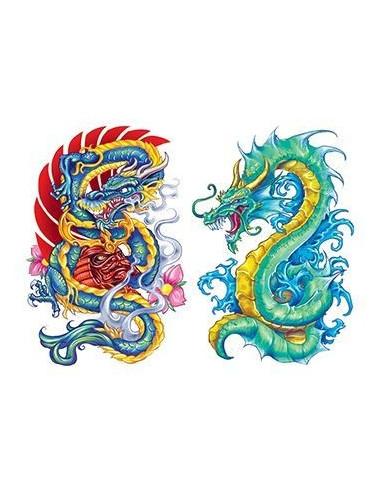 Dvaja čínski draci - nalepovacie...