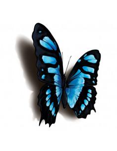 Modročierny motýľ s 3D...