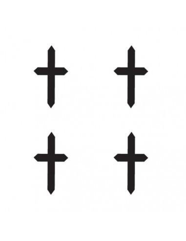 Štyri malé krížiky - nalepovacie...
