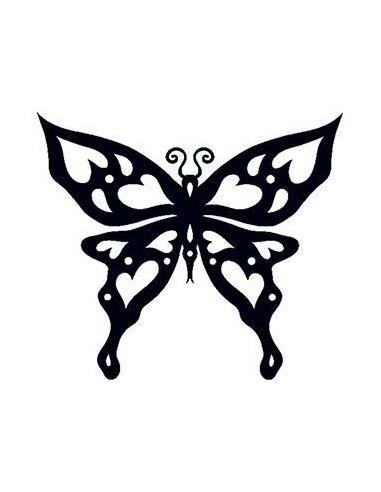 Motýľ svietiaci v tme - tribal...