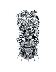 Čínsky drak a bojovník -...