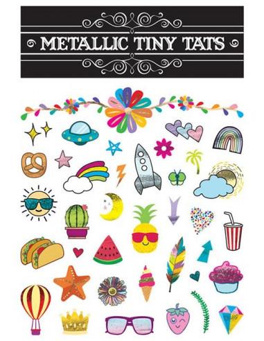 Sada farebných tetovačiek - metalické...