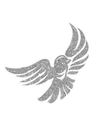 Trblietavý strieborný vtáčik -...