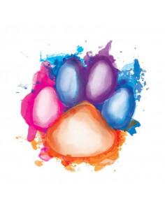 Farebná labka - watercolor...