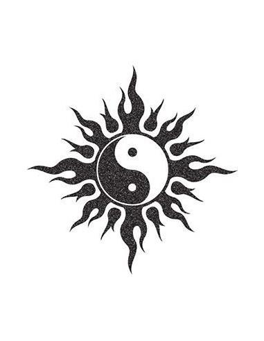 Trblietavý symbol Jin a Jang -...