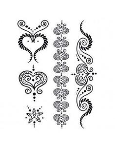 Čierne srdcia - henna...