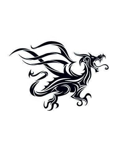 Čierny drak - tribal dočasné tetovanie