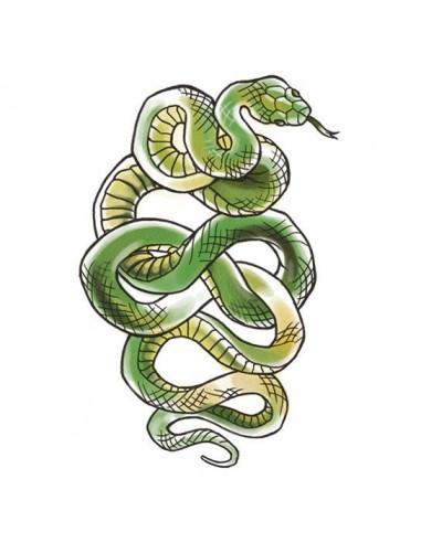 Zelený had - veľké dočasné tetovanie