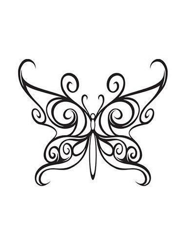 Motýľ - malé dočasné tetovanie