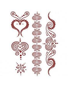 Červené srdcia - henna...