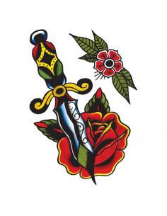 Dýka s ružou a kvetinou -...