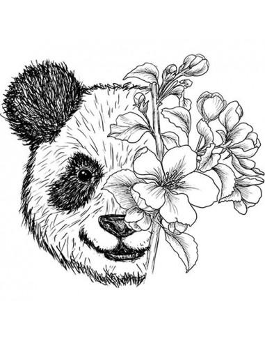 Panda s kvetinami - nalepovacie...