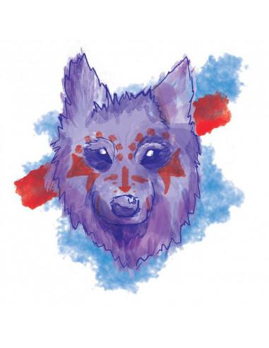Vlk bojovník - watercolor dočasné...