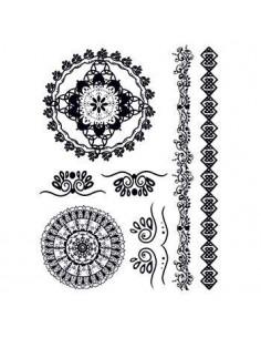 Čierne mandaly - henna...