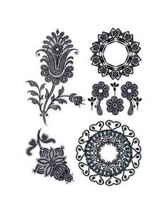 Čierne kvety - henna...