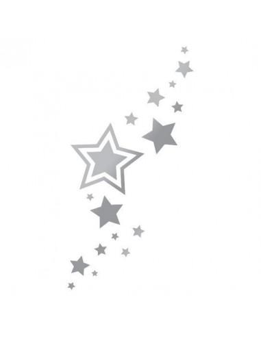 Metalické strieborné hviezdičky -...