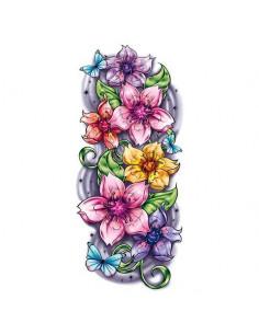 Farebné kvety sakury -...