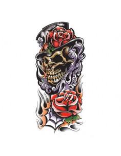 Farebná smrtka s ružami -...