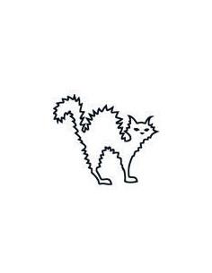 Naježená mačka svietiaci v...