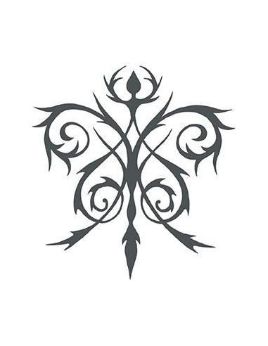 Keltská kvetina - nalepovacie tetovanie