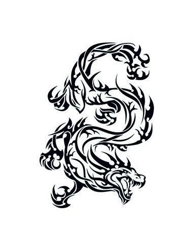 Divoký drak - tribal nalepovacie...