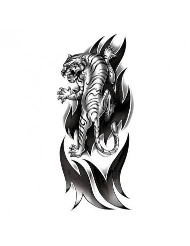 Rozzúrený tiger - veľké tribal...