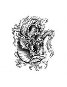 Dragon - nalepovacie tetovanie