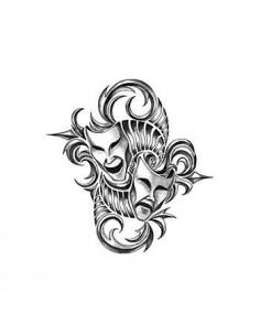 Dramatické masky - tribal...