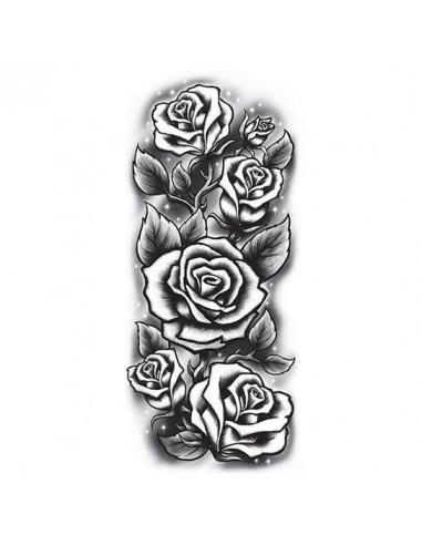 Ruže - veľké nalepovacie tetovanie
