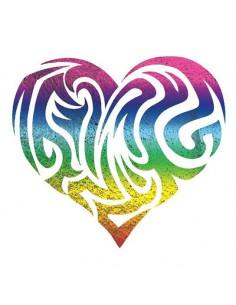 Metalické dúhové srdce -...