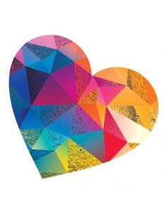Metalické farebné srdce -...