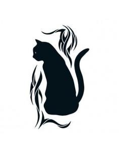 Čierna mačka - tribal...