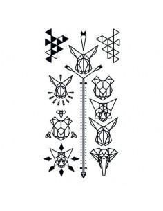 Geometrické zvieratá - sada...