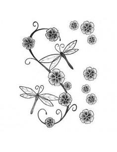 Vážky a kvety - nalepovacie...