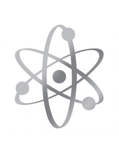 Metalický strieborný atóm -...